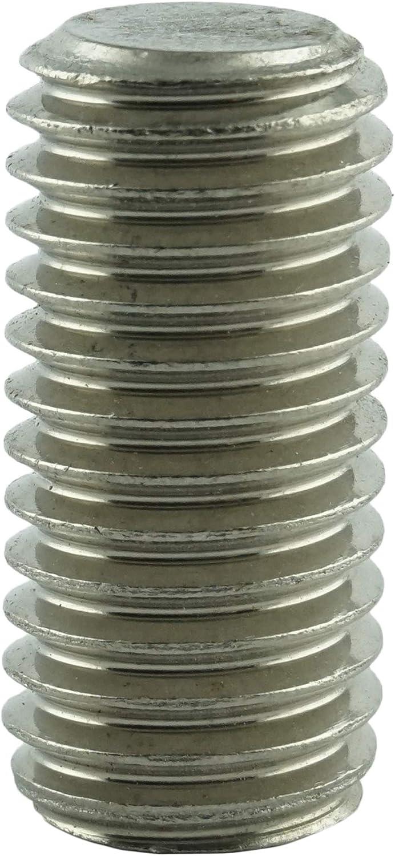 Edelstahl A2 V2A M12 x 16 mm Gewindestift mit Innensechskant und Kegelkuppe Gewindeschrauben ISO 4026 - Madenschrauben DIN 913 10 St/ück rostfrei Eisenwaren2000