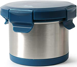 Arctic Zone Leak Proof Thermal Insulated Food Jar with Safe & Easy 4 Lock Lid, 16oz Capacity - Navy