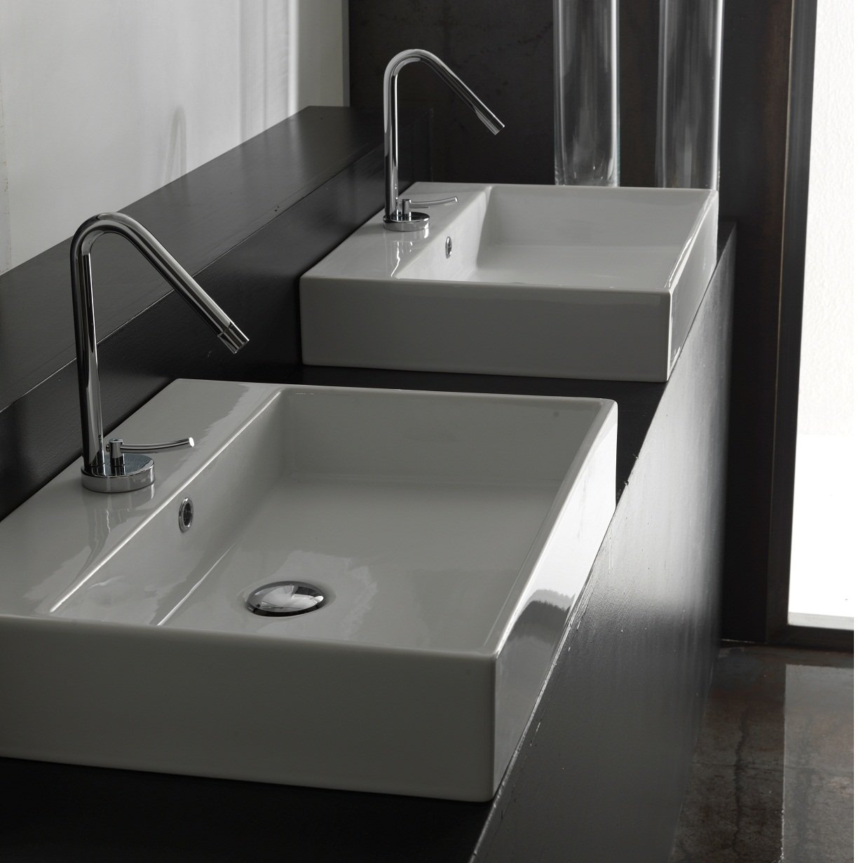 Unlimited 60 Wall-mount or Countertop Bathroom Sink (With Faucet Hole)