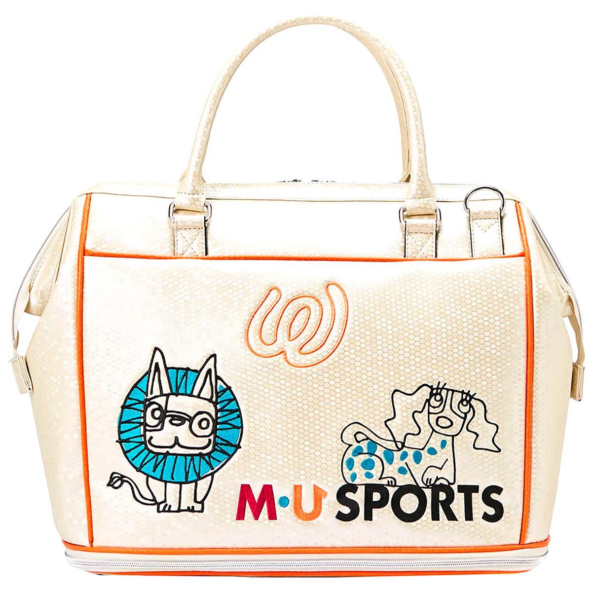 MU SPORTS(エム ユースポーツ) ボストンバッグ 2019SSシリーズ アニマル柄ボストン アイボリー 703P2200 アイボリー B07QS3SX34