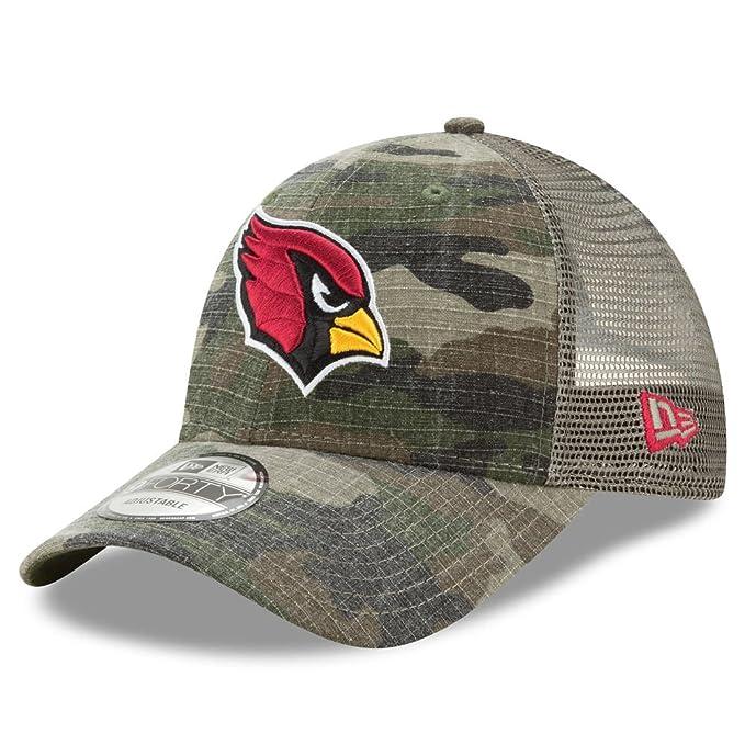 be3b6bdb Amazon.com : Arizona Cardinals Camo Trucker Duel New Era 9FORTY Adjustable  Snapback Hat / Cap : Clothing