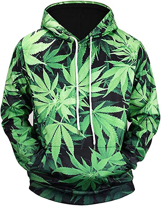 Big Cannabis American Flag Marijuana Leafs Hoodie Gift Idea Weed Day