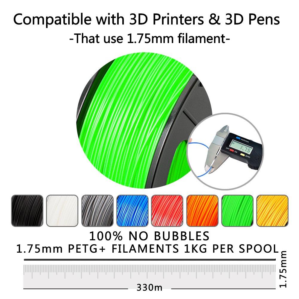 PETG 3D Printer Filament 1.75 mm 1 kg Spool 2.2lb SUNLU PETG 3D filament 1.75mm 1KG Blue PETG Dimensional Accuracy +//- 0.02 mm