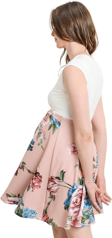 HELLO MIZ Womens Floral Maternity Mini Dress