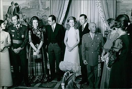 Vintage Foto de Maria del Mar martinez-bordui, Prince Juan carlos ...