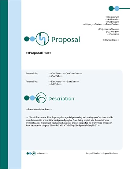 Amazon com: Proposal Pack Plumbing #1 - Business Proposals, Plans