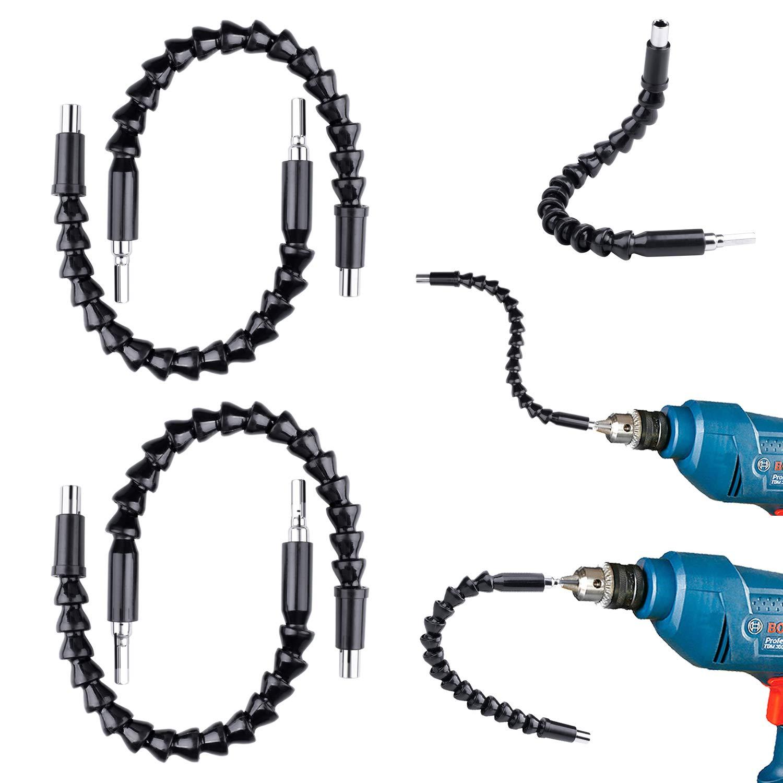Ejes Flexibles para Destornilladores de 4 Piezas, 300mm (12