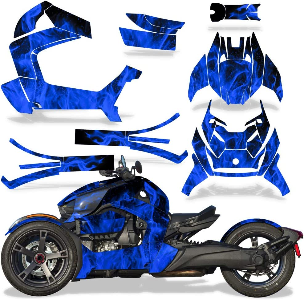 Frenzy Green Savage Kits Roadster Graphics kit Sticker Decal Compatible with Can-Am Ryker 2019