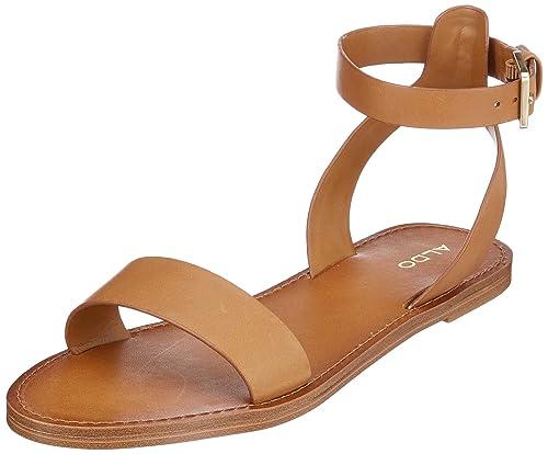 6cba3a74847a6 Aldo Women's Campodoro Ankle Strap Sandals, Brown (Cognac 28), 8 UK ...