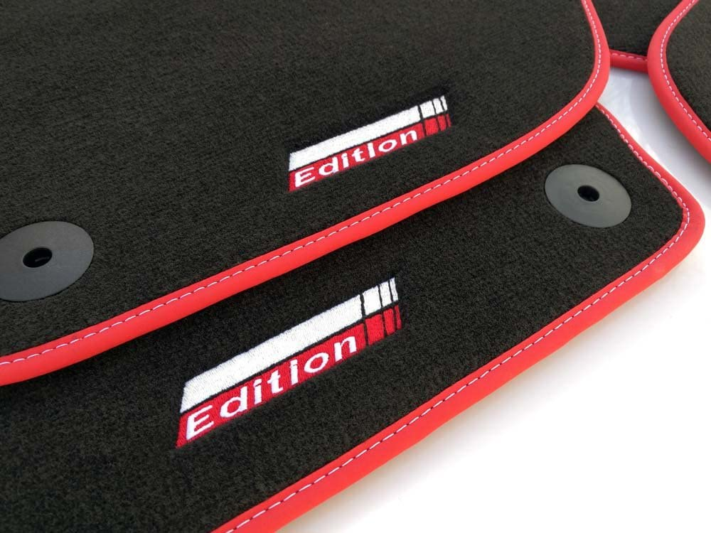 Kh Teile Fußmatten Sport Edition Geeignet Für Golf 5 6 Premium Velours Automatten Set 4 Teilig Nubuk Rot Auto
