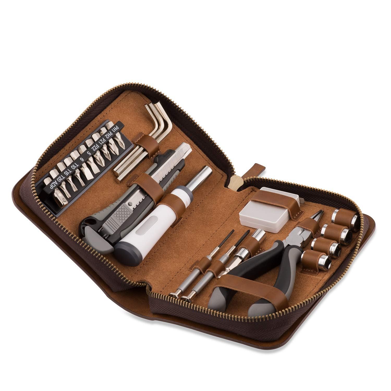 Things Remembered Personalized 24-Piece Leather Travel Tool Set