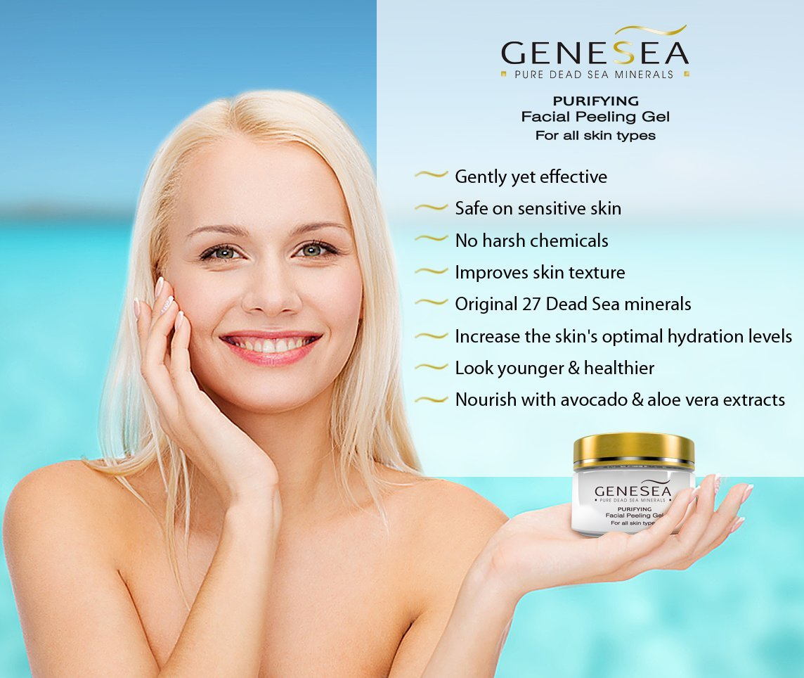 Amazon genesea face exfoliating peeling gel scrub for vital amazon genesea face exfoliating peeling gel scrub for vital glowing looking skin deep sea cleansing facial peel skin care purifying sensation ccuart Image collections