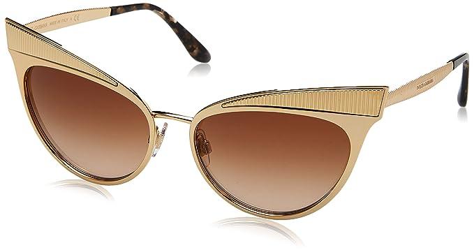 Dolce   Gabbana 0DG2178 02 13 57, Montures de Lunettes Femme, Or ... cdd1cb165e0c