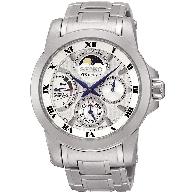 Seiko Premier Mens Watches Srx011p1 Prospex Ssc347p1 Sky Solar Chronograph Blue Dial Stainless