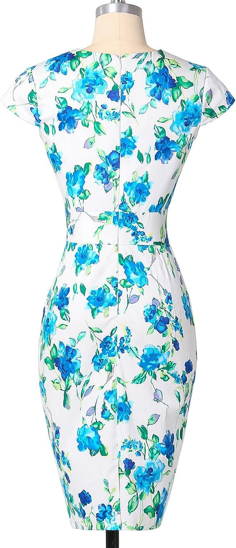 GRACE KARIN Womens 50s Vintage Pencil Dress Cap Sleeve Wiggle Dress CL7597