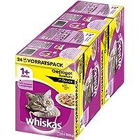 Whiskas 1 + kattenvoer, hoogwaardig nat voer voor gezonde vacht, evenwichtig vochtige voering in verschillende…