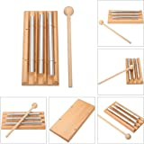 Meditation Chime,MOHOO Energy Chimes Trio Chime Three Tone Percussion Instrument with Mallet
