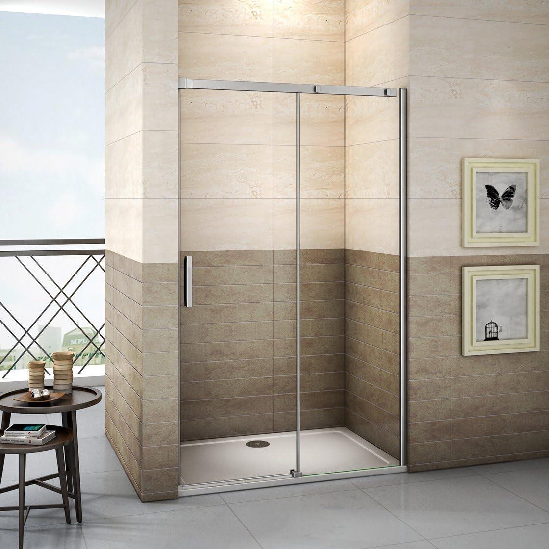 105x195cm Mamparas de ducha puerta de ducha 8mm vidrio templado de Aica