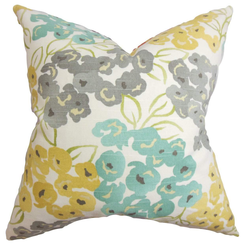 Amazon.com: La almohada Collection Eloísa Gris Floral Throw ...