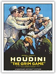Harry Houdini in The Grim Game - Vintage Film Movie Poster c.1919 - Master Art Print 9in x 12in
