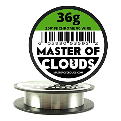 Nichrome 80 - 250 ft 36 Gauge AWG Resistance Wire 0.13mm 36g 250 ...
