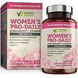 Vitamin Bounty Probiotic & Prebiotic for Women - 10 Billion CFUs Per Serving with Cranberry, 5 Strains - for Feminine…