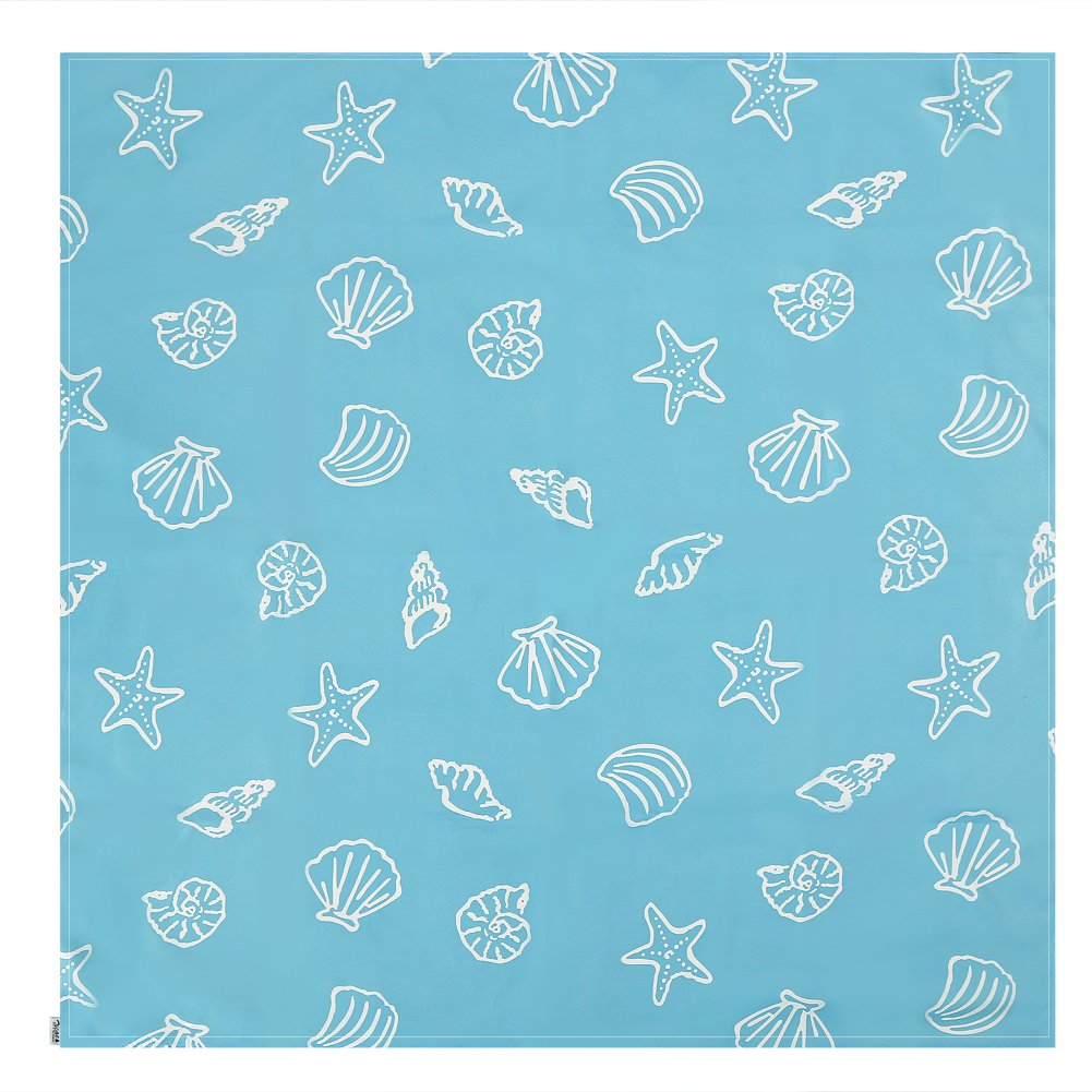 Zicac Baby HighChair Floor Mat Protector Cover Washable Splat Mats (Light Blue)