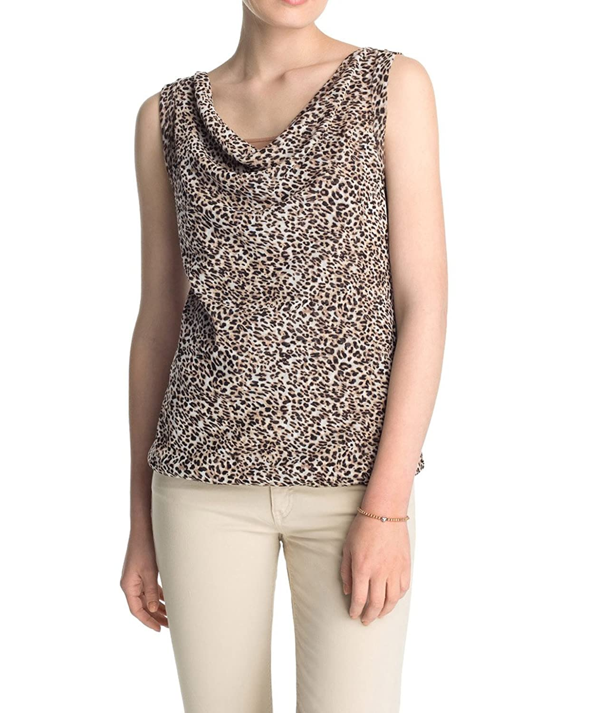 ESPRIT Collection Women's 045EO1K033 Animal Print Sleeveless T-Shirt