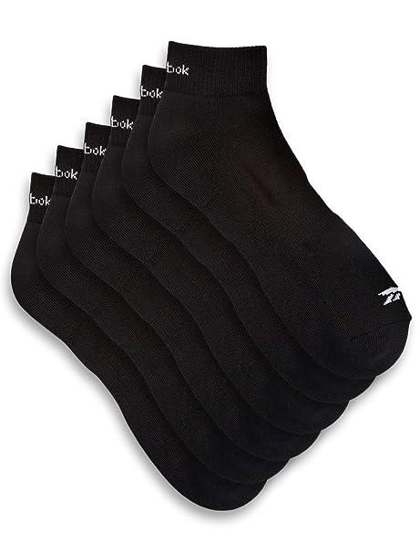 b98477bd47c Amazon.com  Reebok Essentials 6-pk Quarter-Top Socks  Clothing