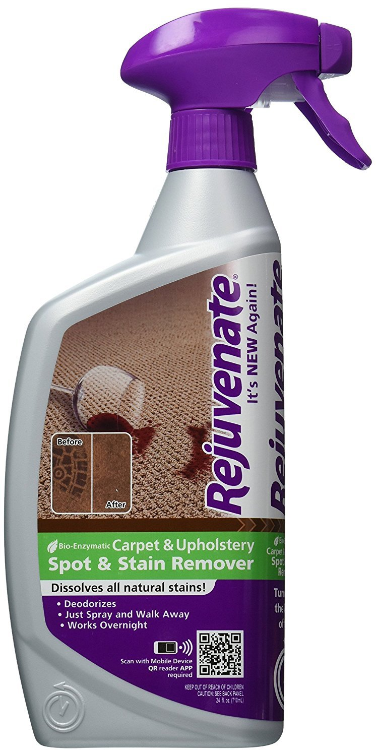 Rejuvenate RJ24CU Bio-Enzymatic Carpet and Upholstery Cleaner, 24-Ounce 2-Pack