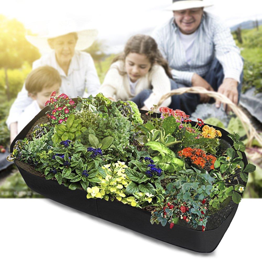 Large Grow Bag Planter Outdoor Garden Vegetable Salad Tomato Growbag Plant Pot