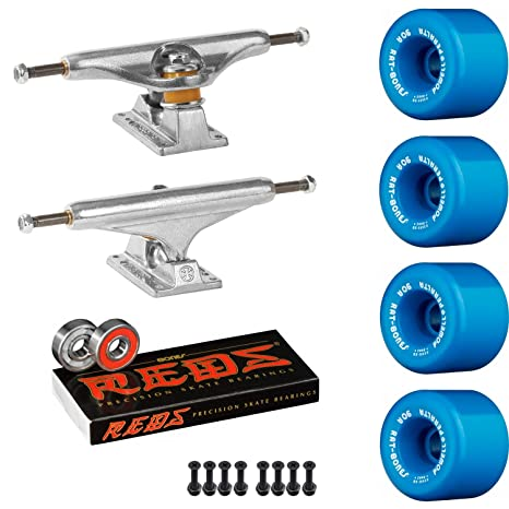 Old School Skate Pack Independiente 149 camiones Powell Peralta rata huesos azul ruedas huesos rojos