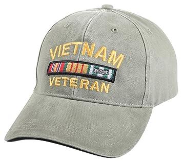 Amazon.com  Rothco Vintage Vietnam Vet Low Profile Cap 012f78aacde9