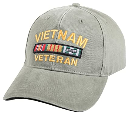 2c9f57f5584 Image Unavailable. Image not available for. Color  Rothco Vintage Vietnam  Vet Low Profile Cap ...