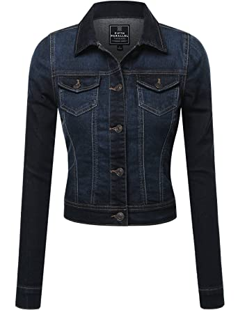 FPT Womens Cropped Denim Jacket (S-3XL) at Amazon Women&39s Coats Shop