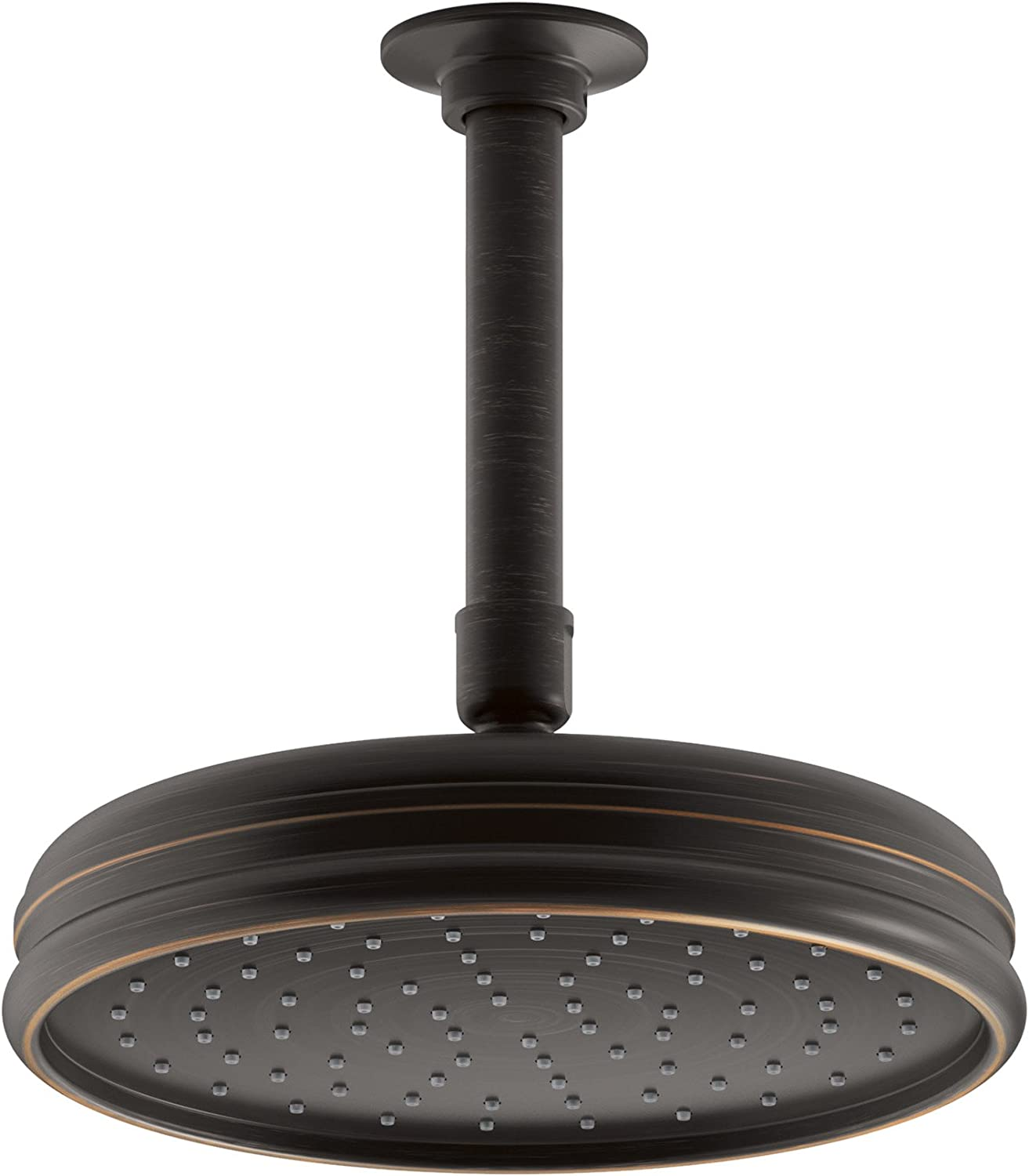 Kohler K-13692-2BZ 8-Inch Traditional Round Rain Showerhead with Katalyst Spray Technology, Oil Rubbed Bronze