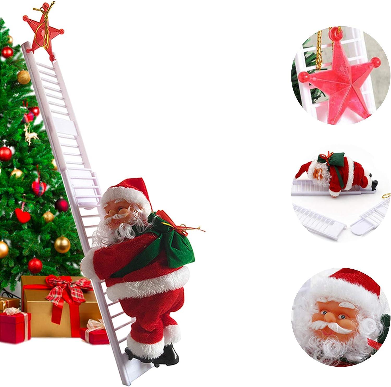 Electric Climbing Ladder Santa Claus Christmas Xmas Party Decorations Gifts USA