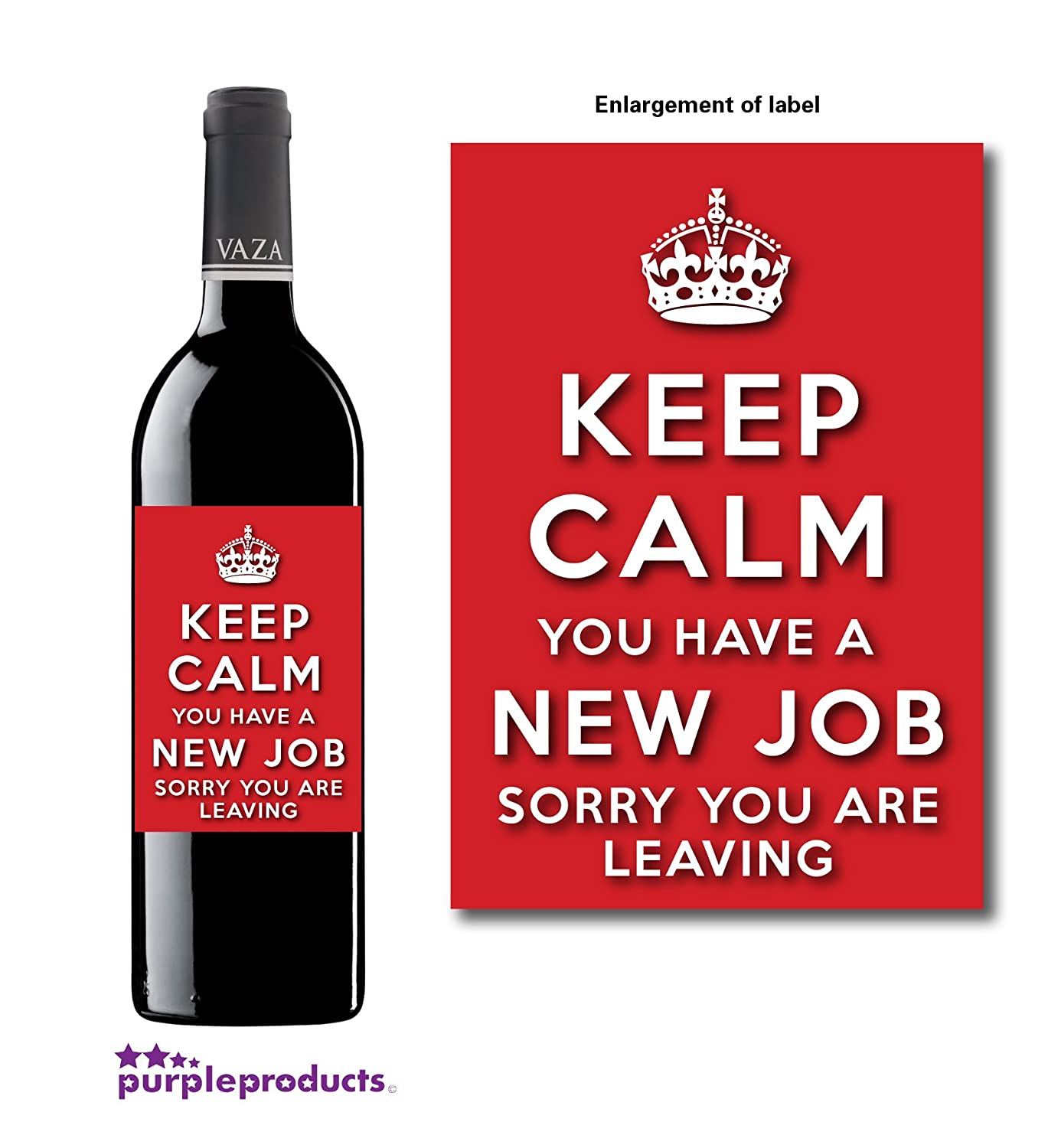 new job survival kit gift great novelty gift or alternative to a keep calm new job sorry you re leaving wine bottle label celebration gift for women
