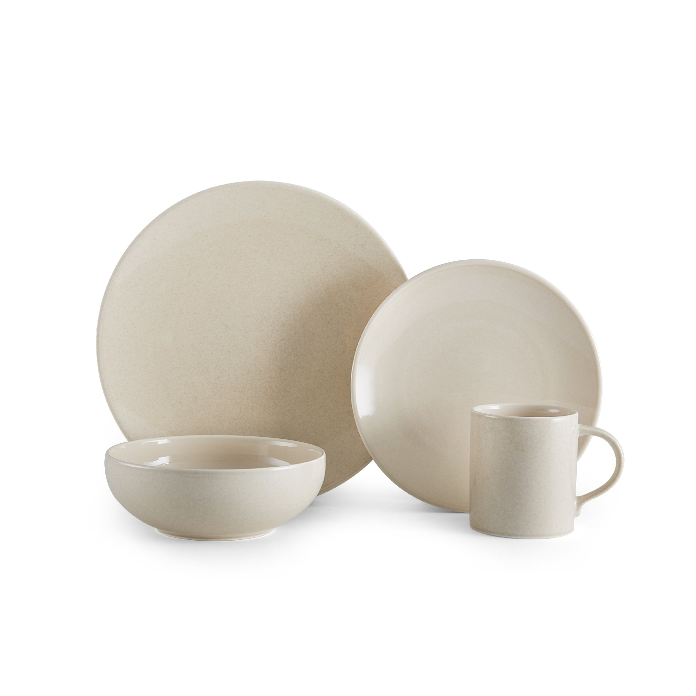 Mikasa Benson Beige 16-Piece Dinnerware Set, Service for 4