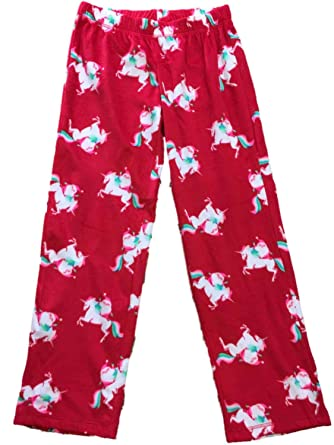 Womens Santa Riding Unicorn Christmas Fleece Sleep Pants Holiday ... f07b5088b