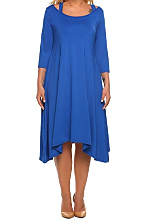 IN VOLAND Plus Size Women s Midi Swing Bridesmaid Dresses Vintage Casual Evening  Cocktail Party Outfit 5112aa74861f