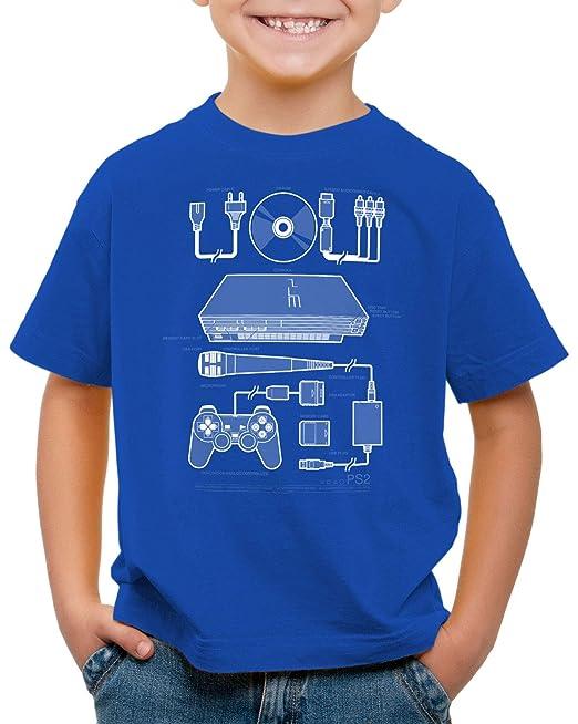 style3 PS2 Gamer Camiseta para Niños T-Shirt Mando videoconsola: Amazon.es: Ropa y accesorios