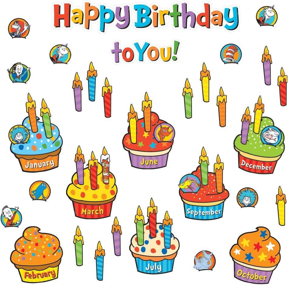 Super Amazon Com Eureka Back To School Dr Seuss Happy Birthday Funny Birthday Cards Online Alyptdamsfinfo