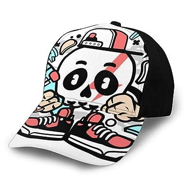Fabulous_Woo Gorra de béisbol Skull Skater con Dibujos Animados ...