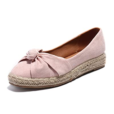 Alexis Leroy Closed Toe Bow Slip On Women's Espadrille Flat | Flats