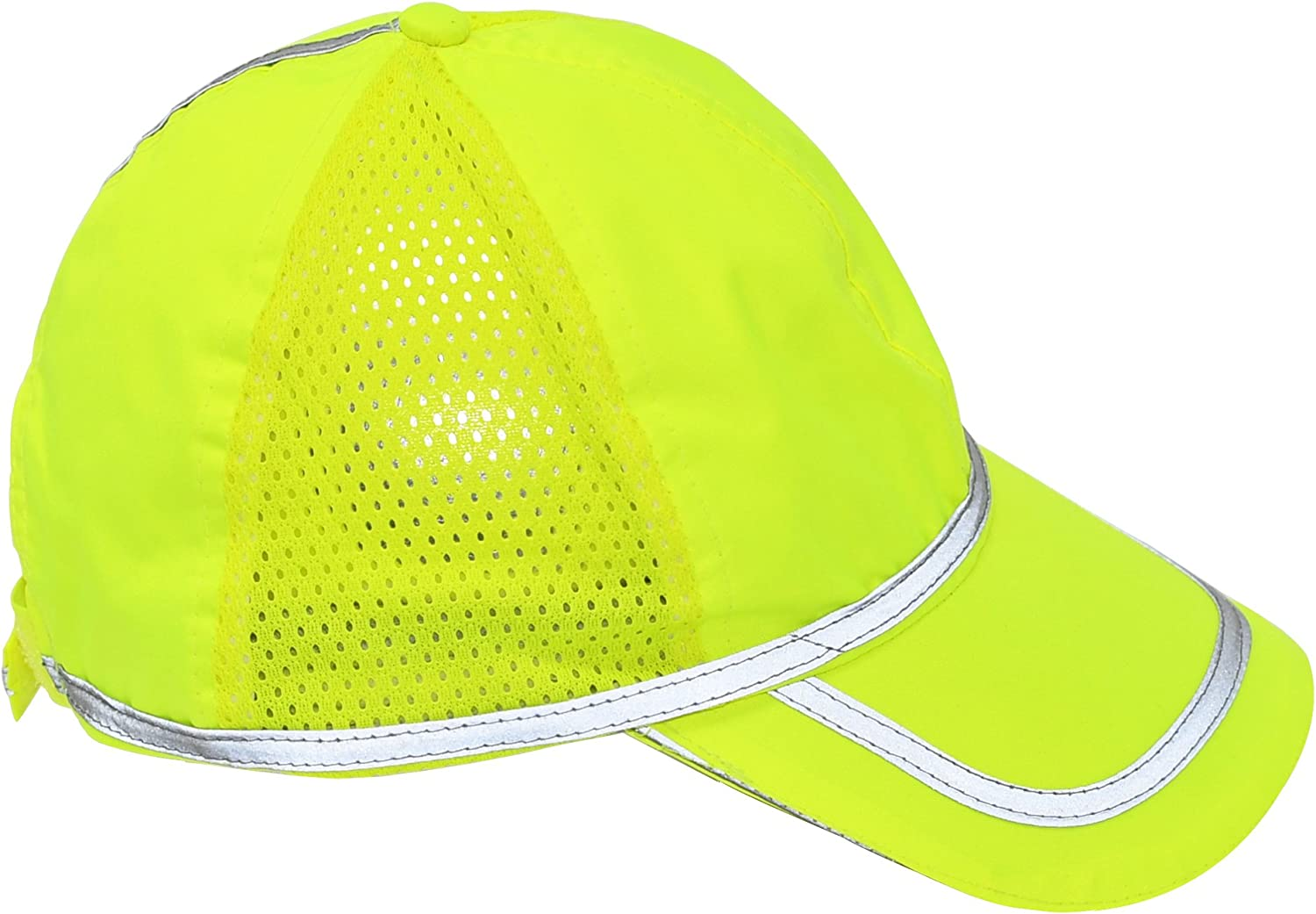 Home-X Reflective Yellow Safety Cap with Gray Piping