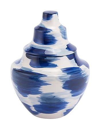 Amazon Zuo Modern A11368 Pinto Small Vases Bluewhite Kitchen