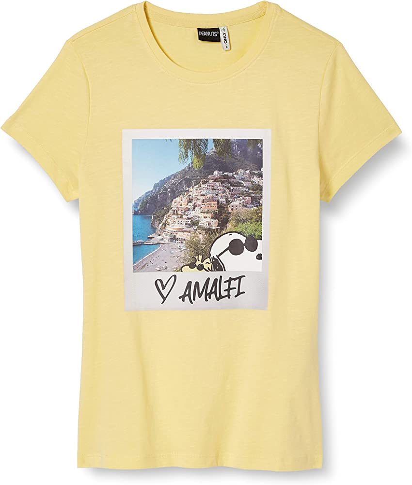Only Onlpeanuts Life Fit S/s Photo Box Jrs Camiseta, Rodaja De Piña, XS para Mujer: Amazon.es: Ropa y accesorios