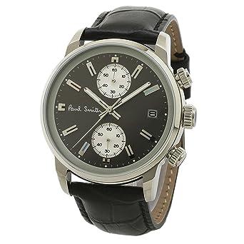 e5df8e6b3fb2 ポール・スミスPaul Smith時計クロノグラフ腕時計メンズブロックブロッククロノグレー×ブラック