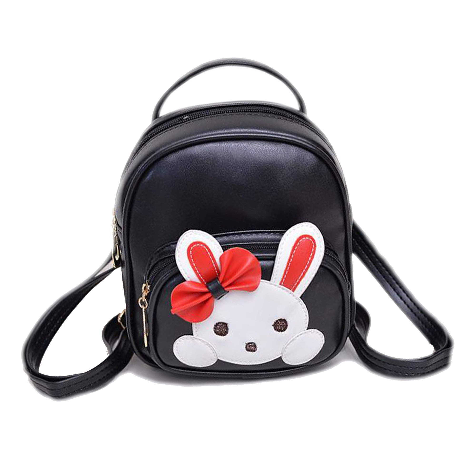 JIANBAO Girls Kids Rabbit Mini Backpack Travel School Book Bags Children Lovely Daypack Satchel (Black) by JIANBAO (Image #1)